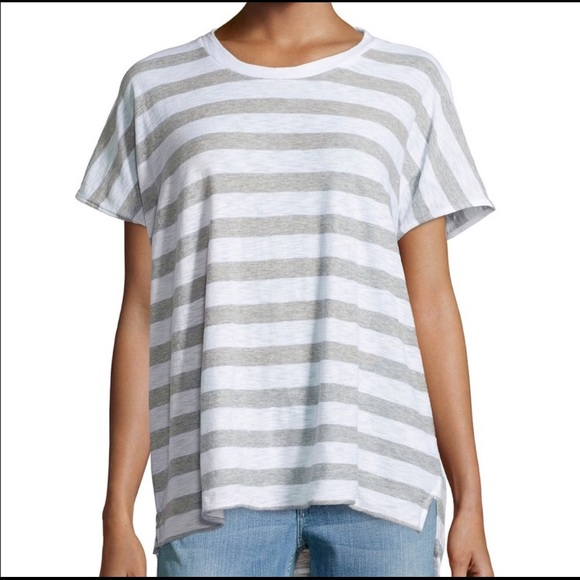 f90d95c037e8 James Perse Tops - James Perse Striped Slub Jersey Tee